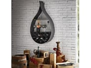 Wall-mounted steel bookcase DROP - Cattelan Italia
