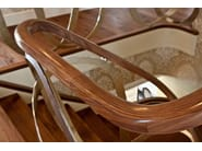 U-shaped solid wood Open staircase DUBAI   Solid wood Open staircase - Siller Treppen