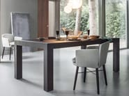 Extending rectangular oak table DUECI - Lema