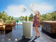 Misting system with LED lights with table DUETTO - Enjoy your Life by Idrobase Group