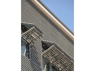 Folding recycled plastic shutter with fixed louvers DUFIX 40T ECO2 - INDÚSTRIAS DURMI