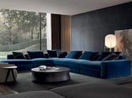 Corner sectional fabric sofa DUNE | Corner sofa - Poliform