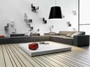 Corner fabric sofa with removable cover DUO | Corner sofa - PIANCA