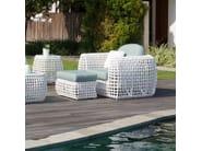 Poltrona da giardino imbottita con braccioli DYNASTY 22381 - SKYLINE design