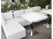 Sectional polypropylene garden sofa DADO   Garden sofa - Metalmobil