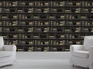 Wallpaper DARK BOOKCASE - Mineheart