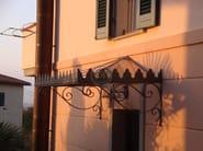 Iron door canopy Door canopy 1 - Garden House Lazzerini