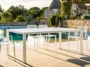 Rectangular aluminium garden table EASY | Rectangular table - FAST
