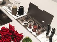 Kitchen equipped track EASYRACK KITCHEN FLAT | Spice box - DOMUSOMNIA