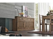 Wooden sideboard with sliding doors ECLETTICA | Sideboard with sliding doors - Devina Nais