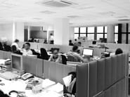 Trevira® CS workstation screen desktop partition ECODESK | Workstation screen desktop partition - Slalom
