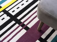 Handmade rectangular wool rug with geometric shapes ECSTATIC - Dare to Rug