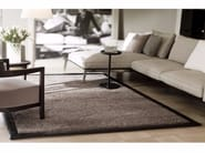 Solid-color rectangular fabric rug EDEN - Besana Moquette