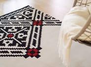 Handmade rectangular wool rug with geometric shapes EDGY - Dare to Rug