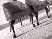 Upholstered lacquered fabric chair EDWARD - Gianfranco Ferré Home