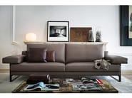 2 seater leather sofa EGO | Leather sofa - Arketipo