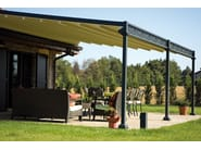 Wall-mounted iron pergola ELECTRIC ROOF - UNOSIDER