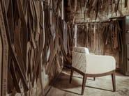 Leather easy chair with armrests ELLEN | Leather easy chair - J. MOREIRA DA SILVA & FILHOS, SA