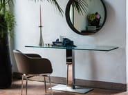 Crystal and stainless steel console table ELVIS | Console table - Cattelan Italia