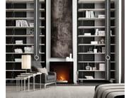 Lampada da comodino a luce diretta e indiretta in acciaio in stile moderno con braccio fisso EMERALD | Lampada da tavolo - Caroti
