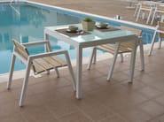 Iroko garden chair with armrests EMILY | Aluminium garden chair - Efasma