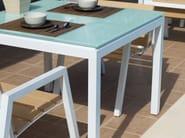 Square glass garden table EMILY | Aluminium garden table - Efasma