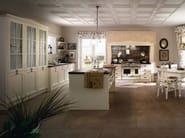 Wooden fitted kitchen with island ENGLISH STYLE - Callesella Arredamenti S.r.l.