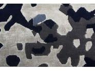 Patterned handmade rectangular rug ERASURE BLUE - EDITION BOUGAINVILLE