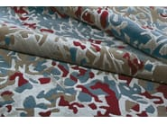 Patterned handmade rectangular rug ERASURE RED - EDITION BOUGAINVILLE
