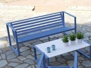 Aluminium garden bench with armrests ERATO | Aluminium garden bench - Efasma