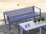 Aluminium garden bench with armrests ERATO   Aluminium garden bench - Efasma