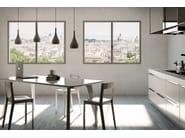 Aluminium casement window ES ZEROFRAME - ES FINESTRA