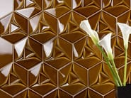 Indoor double-fired ceramic 3D Wall Tile SPACE CONCEPT - HEXAGON - ETRURIA design