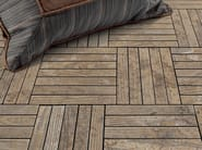 Indoor/outdoor marble flooring with wood effect ESSENCE - LISTELLO - Lithos Mosaico Italia - Lithos