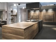 Beech kitchen with island ESSENCE - TONCELLI CUCINE