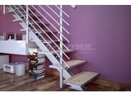 Straight aluminium Open staircase ESSENZA 1 | Aluminium Open staircase - FARAONE