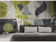 Contemporary style geometric washable writing synthetic material wallpaper ESTER - N.O.W. Edizioni