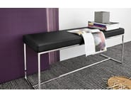 Upholstered leather bench EVEN - Calligaris