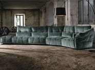Sectional fabric sofa EVER - Max Divani