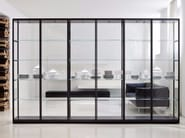 crystal bookcase ex libris by porro design piero lissoni. Black Bedroom Furniture Sets. Home Design Ideas