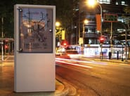 Freestanding double-sided HPC advertising totem EXPO - Metalco