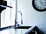 Countertop stainless steel kitchen mixer tap with spray EXTENDED EX-210 - Nivito