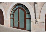 Custom solid wood entry door Entrance doors - NAVELLO