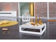 Low garden side table FACET   Low coffee table - Joli