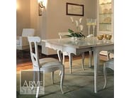 Extending square solid wood table FENICE | Lacquered table - Arvestyle
