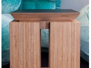 Rectangular multi-layer wood bedside table FIGARI - MALHERBE EDITION