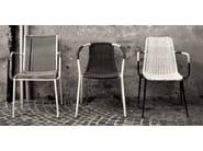 Stackable synthetic material chair with armrests Filoline 001 - Metalmobil