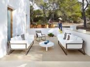 Round thermo lacquered aluminium garden side table FLAT | Round coffee table - GANDIA BLASCO