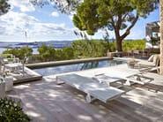 Recliner Batyline® garden daybed with Casters FLAT TEXTIL | Garden daybed - GANDIA BLASCO