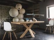Rectangular oak table FLOWER - Dall'Agnese